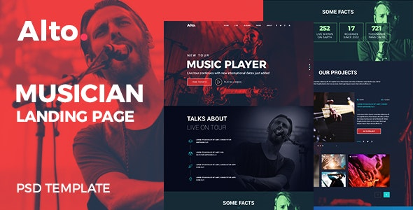 musician-landing-page-theme-forest
