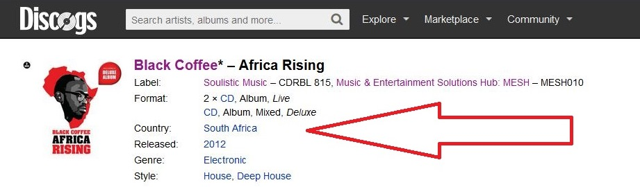 Black Coffee Africa Rising Album