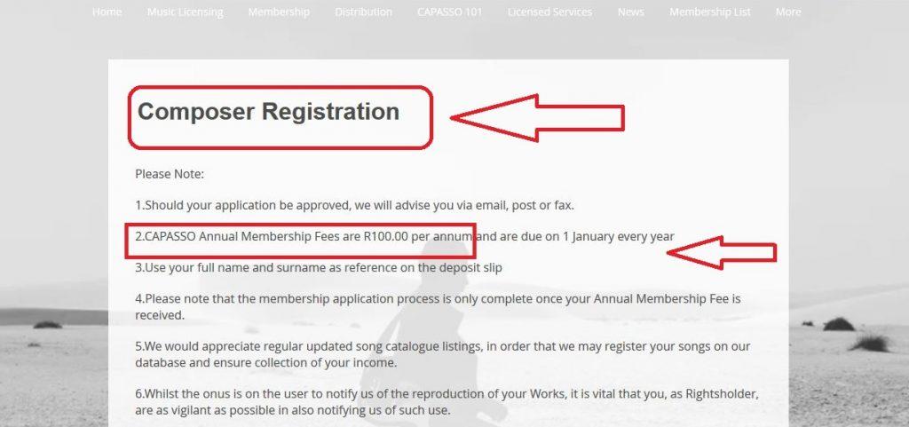 Capasso composer registration