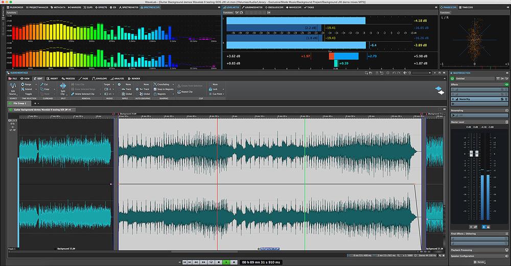 mastering on wavelab