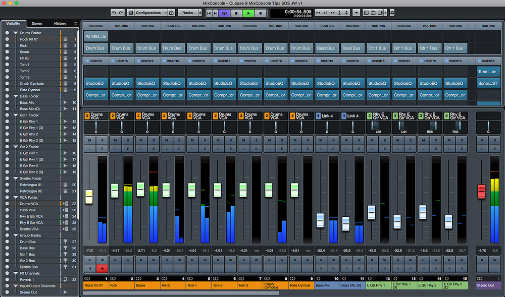 mixing with cubase